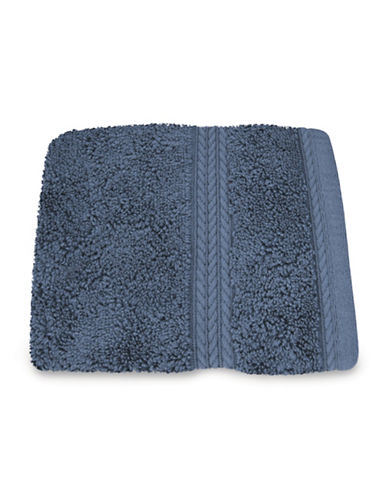 Nautica Seaport Plush Cotton Washcloth-QUARRY-Washcloth