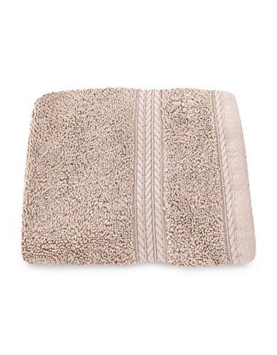 Nautica Seaport Plush Cotton Washcloth-TWINE-Washcloth