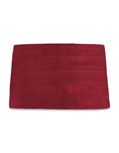 Nautica Seaport Bath Rug-DEEP RED-One Size