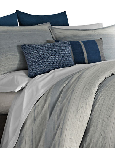Ed Ellen Degeneres Jaspe Cotton Duvet Cover-GREY-Queen