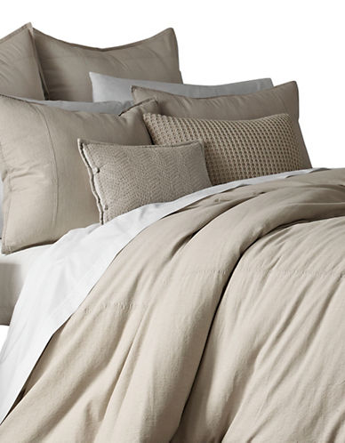 Ed Ellen Degeneres Vintage Washed Twill Cotton Duvet Cover-NATURAL-Queen