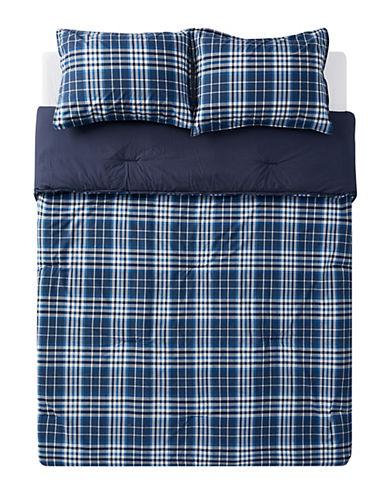 Nautica Trimmer Three-Piece Plaid Comforter Set