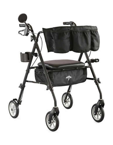 Medline Adult Stealth Rollator-BLACK-One Size