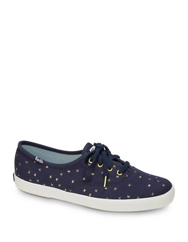 Keds Womens Champion Ethereal Low Top Sneakers-NAVY-8.5