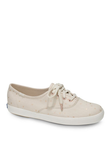 Keds Womens Champion Ethereal Low Top Sneakers-CREAM-5.5