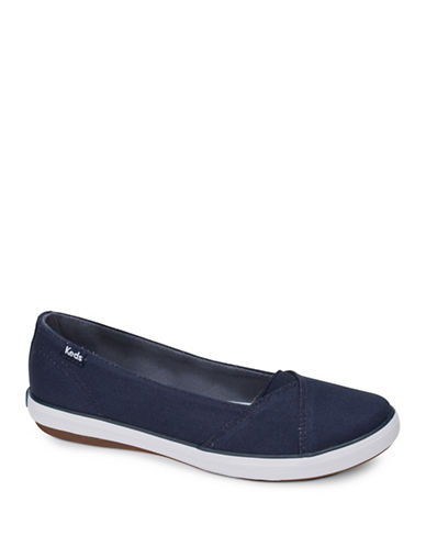 Keds Womens Cali II Canvas Slip-On Sneakers-NAVY-5.5