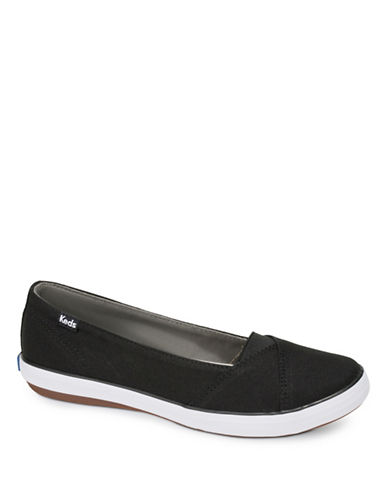 Keds Womens Cali II Canvas Slip-On Sneakers-BLACK-7