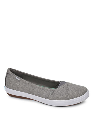 Keds Womens Cali II Studio Jersey Canvas Slip-On Sneakers-GREY-9.5