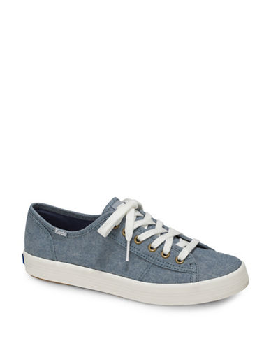 Keds Womens Kickstart Seasonal Low Top Sneakers-BLUE-8.5