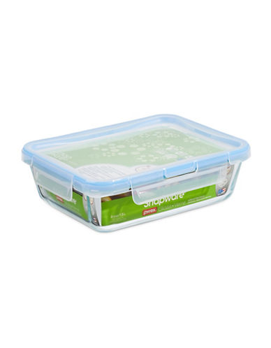 Snapware Spillproof 1.5L Glass Food Keeper with Lid-CLEAR-One Size