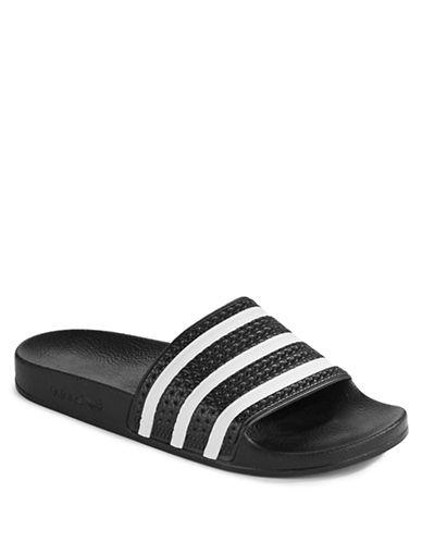 Adidas Adilette Slide Sandals-BLACK-13