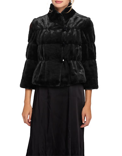 Tahari Quilted Faux Fur Jacket-BLACK-Large 87747010_BLACK_Large