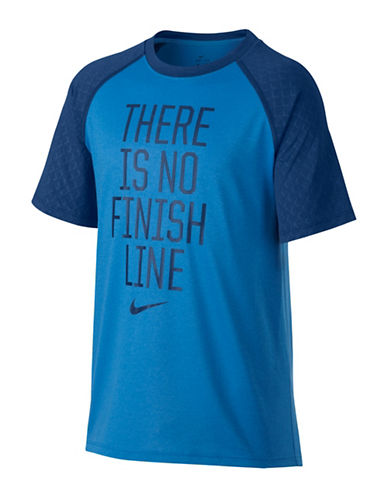 Nike Boys Dry Training Tee-BLUE-10-12