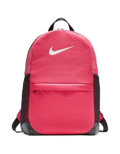 Nike Kids Brasilia Backpack-PINK-One Size