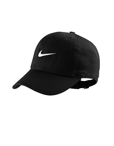 Nike Swoosh Cotton Cap-BLACK-One Size