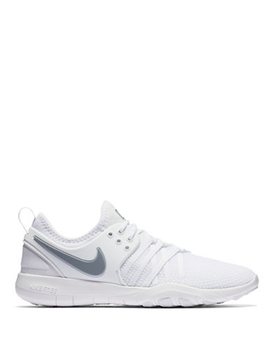 Nike Womens Low-Top Training Sneakers-WHITE-5