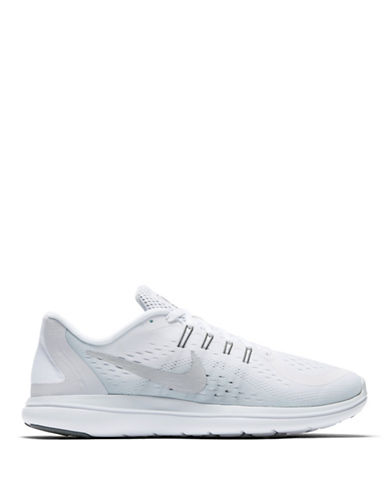 Nike Womens Natural Motion Mesh Running Sneakers-WHITE-7.5