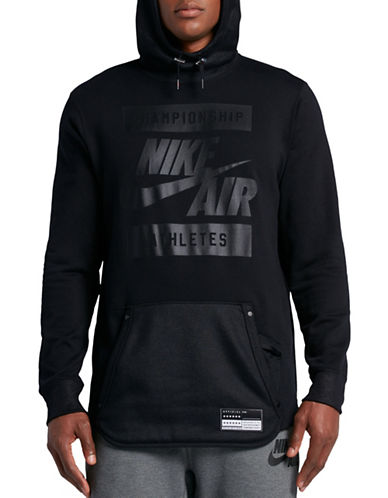 Nike Air French Terry Hoodie-BLACK-Large 89087412_BLACK_Large