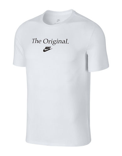 Nike Concept Verbiage Cotton T-Shirt-WHITE-Large