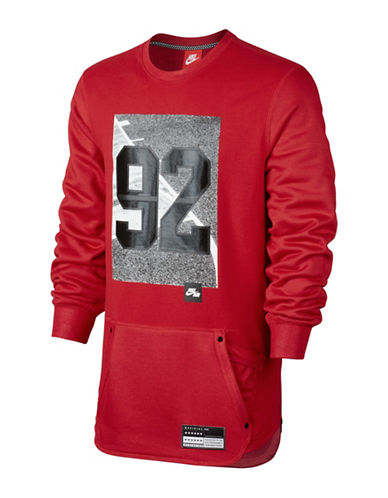 Nike Air Crew Long Sleeve T-Shirt-RED-Small 88798107_RED_Small