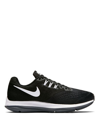 Nike Womens Lunar Mesh Running Shoes-BLACK-6