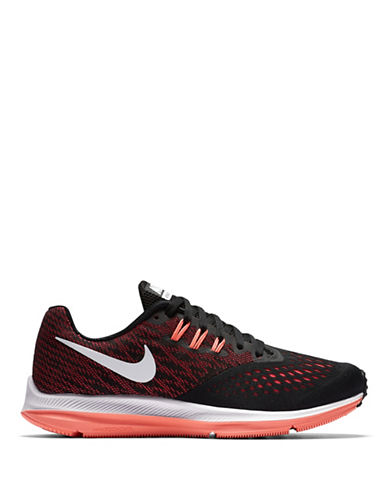Nike Womens Lunar Mesh Two-Tone Running Sneakers-BLACK-8