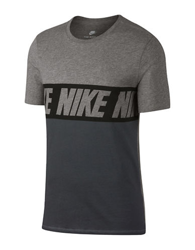 Nike Advance 15 Cotton Tee-GREY-X-Small