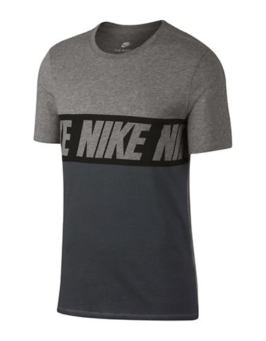 Nike Advance 15 Cotton Tee-GREY-X-Large