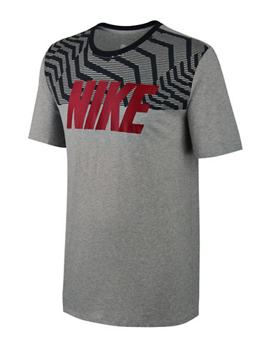 Nike Rag Swoosh Cotton Tee-GREY-XX-Large