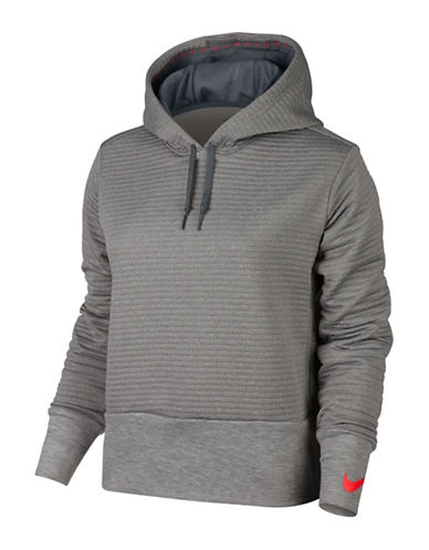 Nike Dry Training Hoodie-GREY-X-Small
