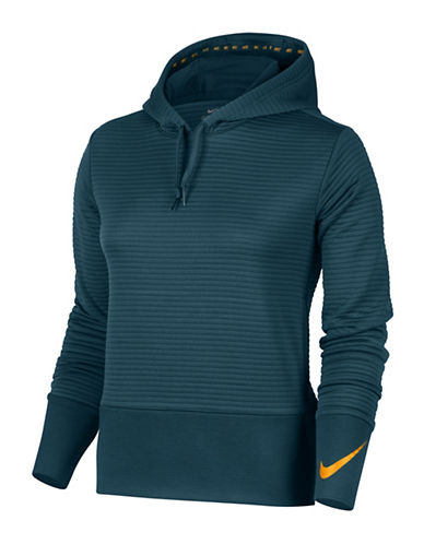 Nike Dry Training Hoodie-SPACE BLUE-Large