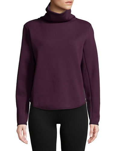 Nike Thermal Turtleneck Top-PURPLE-Medium