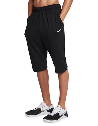 Nike Fleece Dry Training Shorts-BLACK-XX-Large