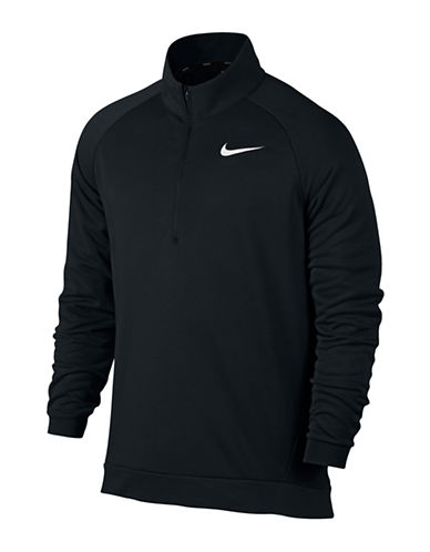 Nike Dri-Fit Training Fleece Sweater-BLACK-Medium
