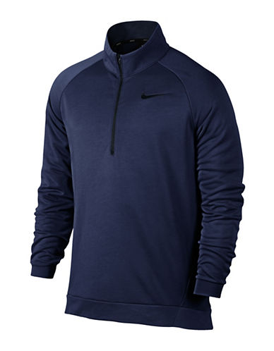 Nike Dri-Fit Training Fleece Sweater-BLUE-X-Large