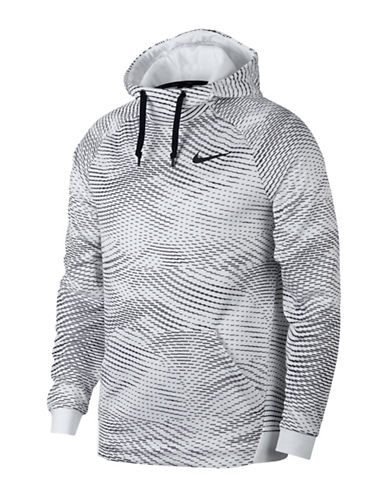 Nike Storm Print Therma Training Hoodie-WHITE-Small