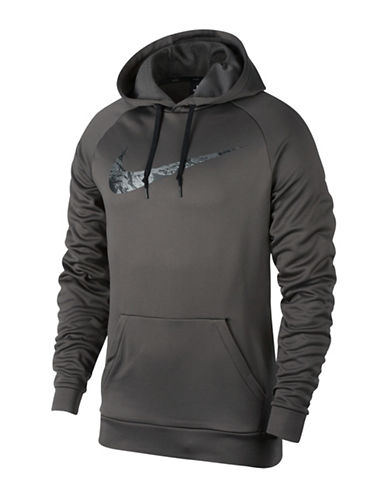 Nike Therma Training Hoodie-CHARCOAL-Large