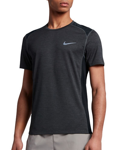 Nike Dry Miler Running Top-BLACK-Large