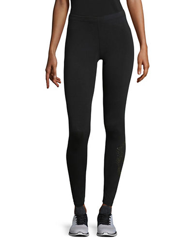 Nike Metallic Logo Leggings-BLACK-Large 89655533_BLACK_Large