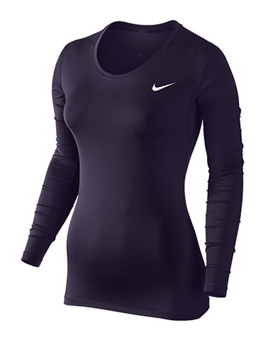 Nike Pro Cool Long Sleeve Top-PURPLE-Medium 88757936_PURPLE_Medium