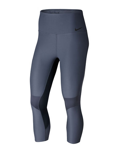 Nike Power Legendary Training Capris-BLUE-Small