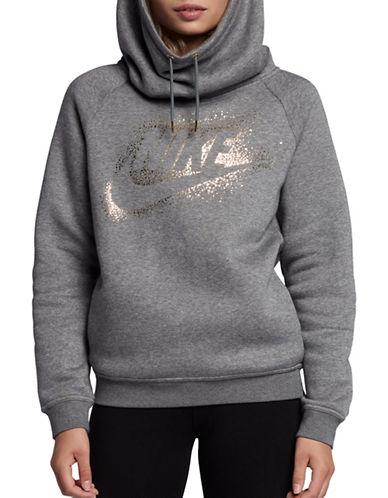 Nike Metallic Logo Pullover Hoodie-GREY-Small 89655571_GREY_Small