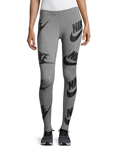 Nike Two-Tone Leggings-GREY-Large
