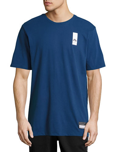 Nike Branded Cotton T-Shirt-BLUE-Small 88798177_BLUE_Small