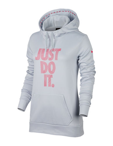 Nike Therma Training Hoodie-SILVER-X-Small
