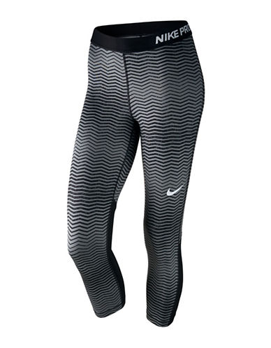 Nike Pro Cool Training Tights-BLACK/GREY-Large 89413711_BLACK/GREY_Large