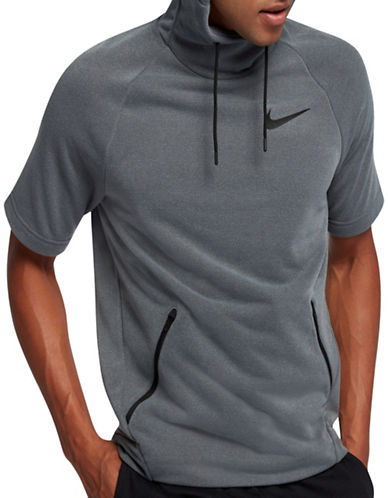 Nike Dri-Fit Training Hoodie-GREY-Medium