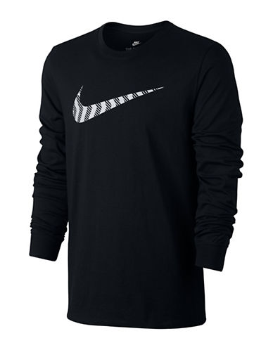 Nike Swoosh Cotton Sweater-BLACK-Large