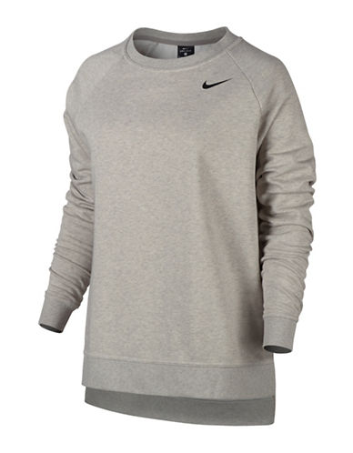 Nike Long Versa Dry Training Top-GREY-Small