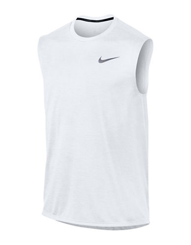 Nike Breathe Miler Running Tank Top-WHITE-Medium